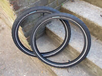 Schwalbe marathon ( the original ) 20 x 1.75 tyres , plus inner tubes ( e-bike ready)