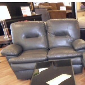 Reclining Love seat Grey Good condition Have no room for it anym