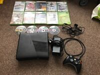 Xbox 360 with games & controller all leads also comes with rechargeable controller