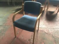 Blue padded chairs with arms (x15)