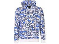Dsquared2 Blue/White Pool Print Hooded (new with tags)