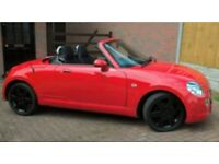 Diahatsu Copen Red 24500miles Covertible 12mnts MOT