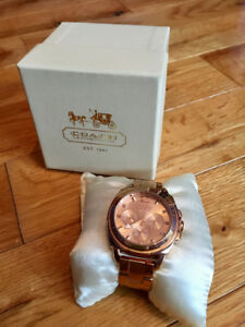 Rose Gold Coach Watch and Rose Gold Studs For Sale!