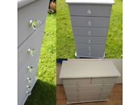 6 drawer chest, also 6 drawer bedside, pine bedroom furniture, uk delivery available
