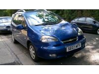 CHEVROLET TACUMA 1.6 SX 16v 2007 07 REG MET BLUE 5 DOORS 5 SPEED MANUAL PAS A/C 58K MILES SUPERB
