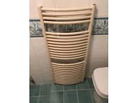 Cream Curved Towel Radiator - Good Condition