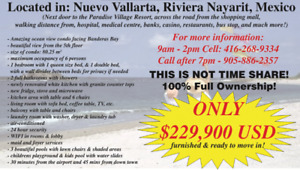 CONDO FOR SALE - in Nuevo Vallarta, Riviera Nayarit, Mexico