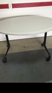 OVAL TABLES ON WHEELS 20 .00 each or 2 for 35