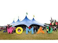 Womad weekend camping tickets meet at venue £90