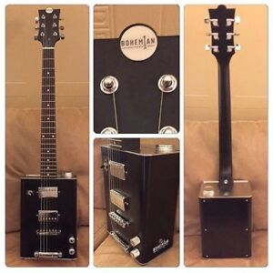 Bohemian Guitars Boho 2.0 Matte Black Oil Can Guitar