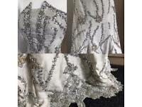 Couture Fully embellished Silk/organza gown/wedding dress with underskirt was £4200!!!