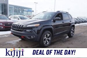 2016 Jeep Cherokee 4WD TRAILHAWK Navigation (GPS),  Leather,  He