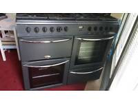 Gas cooker electric oven