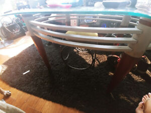 80s RETRO coffee table and 2 side tables...