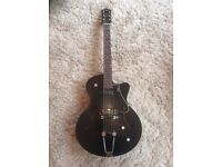 Godin 5th Avenue Kingpin II with TRIC Case, beautiful and black, twin P90's
