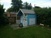 7x8 Crib Playhouse - Treated and Painted