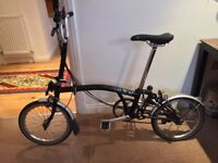 2014 (Barely Used) Brompton M6L Black Folding Bicycle