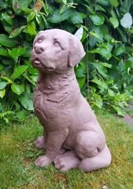 Labrador; cast stone garden ornament