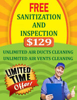 Air Duct & Unlimited Vents Cleaning With Free Inspection