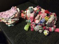 Large Pile of Underwear and Socks for Girls 3-4