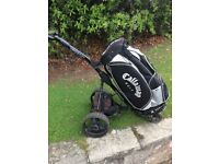 Golf trolley and bag