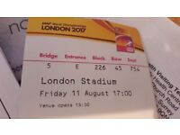 Iaaf tickets, 11th August, evening session
