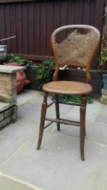 Victorian Balloon back chair with Rattan seat