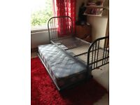 Metal bed plus bed under