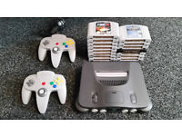 N64 Console with 2 Controllers, Expansion Pak, and 15 Games - Nintendo 64