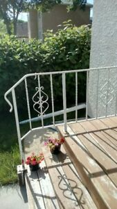 Wrought stair railing