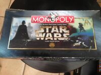 Star Wars original trilogy monopoly board game , collectors item