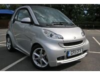 SMART FORTWO Pulse MHD Coupe, Auto, 2011, Silver, Petrol Car 999cc 12 months MOT