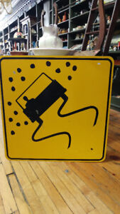 VINTAGE METAL TRAFFIC SIGNS AND LICENSE PLATES FOR SALE