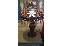 Bronze Colour Moroccan Style Jeweled Beaded Table Lamp