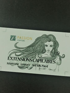Service de pose d'extension- Hair extension