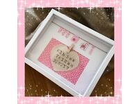 Personalised gift frame New Baby First day at school for all occassions