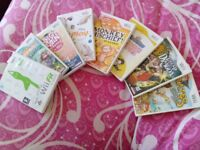 9 good condition wii games
