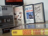 ROCK MUSIC COMPILATION PRERECORDED CASSETTE TAPES, DRIVE-TIME THEMES, RADIO FAVOURITES AND LOTS MORE