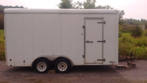 16' enclosed trailer ..trade for Harley