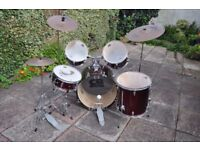 Full 5-Piece CB Drum Kit + DX Stagg Cymbals + Silencer Pads