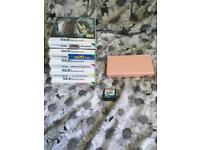 Pink ds with 6 games