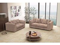 🔥💥🚚BEST BUY AT LOW BUDGET🔥💥🚚 New Double Padded Italian Jumbo Cord Corner Sofa or 3 and 2 Sofa