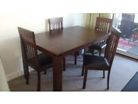Dinning table 4chairs matching sideboard and coffee table
