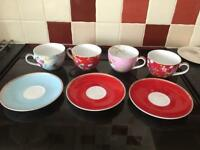 Pop home tea cup and saucers