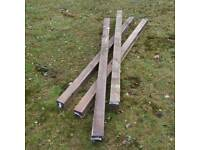 4 X brand new fence posts
