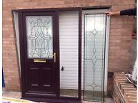 UPVC Door + Side Panel