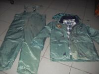 2 Piece thermal fishing suit size XXL
