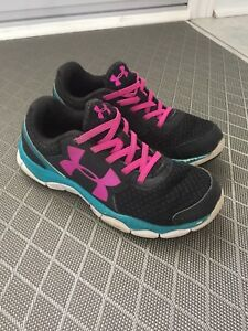 Girls size 3 Under Armour shoes