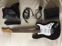 Electric Guitar and Training Amp