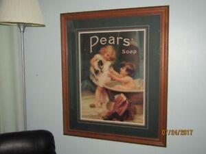 """Pears' Soap Picture """" Giving Puppy a Bath"""" by Frederick Morgan"""
